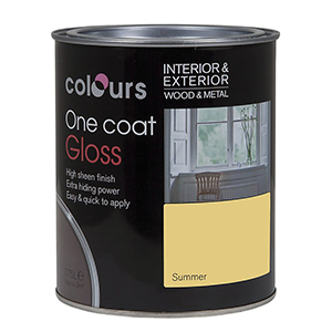 Colours One Coat Wood Gloss Solvent-based Interior