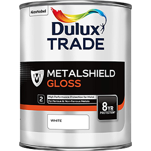 Dulux Trade Metalshield Gloss White 1L