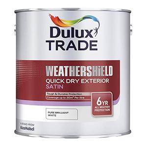 Dulux Trade Weathershield Wood Gloss Satin Water-based Exterior