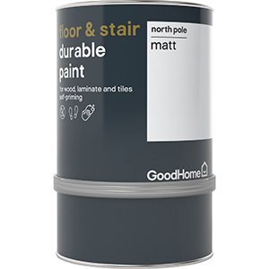 GoodHome Floor & stair paint Durable Paint North Pole Matt 0.75L