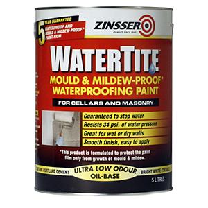 Zinsser Watertite White Waterproofing Paint