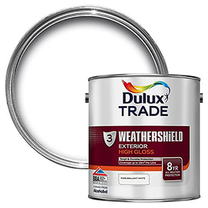 Dulux Trade Weathershield Exterior High Gloss Wood paint – Solvent based – exterior