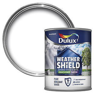Dulux Weather Shield Quickdry Satin Wood & metal paint – Water-based – Exterior