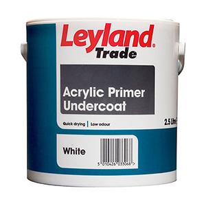 Leyland Trade Acrylic Primer Undercoat – Water-based – Interior + Exterior