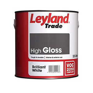 Leyland Trade High Gloss Wood & metal paint – Solvent-based – Interior + Exterior